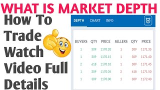 What Is Market Depth How ll To Trade Watch Video Full Details