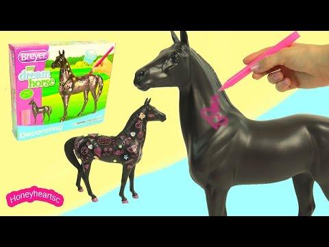 My Dream Horse Breyer Decorating Model Horses Craft Playset - HoneyHeartsc Video