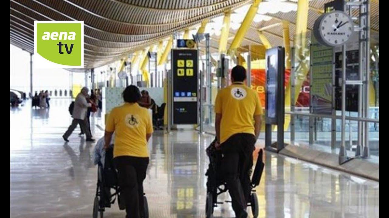 Aena  Servicio para personas de movilidad reducida en