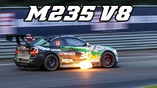 Marc BMW M235i V8 - Huge flames (24h of Zolder 2017)