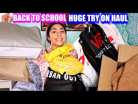 THE BIGGEST Back to SCHOOL HAUL!!! Try on Haul!