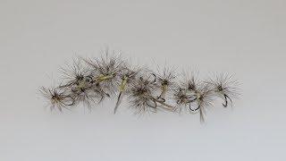 Montage paraloop d'une mouche grise à corps jaune