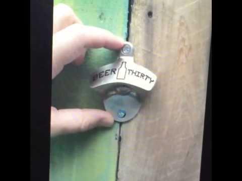 beer thirty wall mounted beer bottle opener youtube. Black Bedroom Furniture Sets. Home Design Ideas