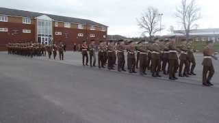 Irish Guards, St Patricks Day Parade, Aldershot 2014