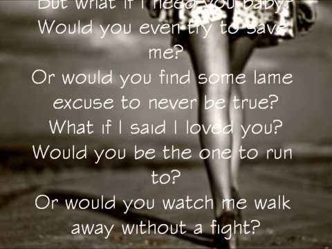 Ashley Tisdale - What If (Lyric Video)