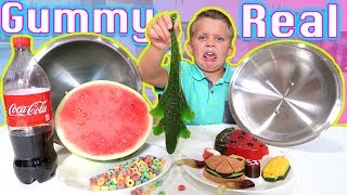 The Candy vs Real Food Blindfold Game!