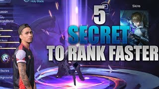 5 SECRETS TO RANK UP FASTER - MOBILE LEGENDS - 2000 DIAMONDS GIVEAWAY - GAMEPLAY - GUSSION