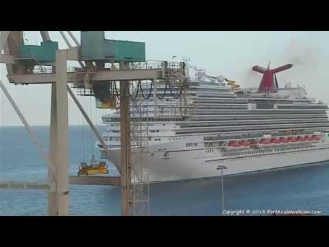 CARNIVAL BREEZE Arriving In ARUBA On YouTube - Aruba tours for cruise ship passengers