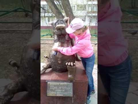 Томск. Статуя волка щас спою.