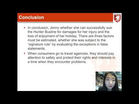 Business and Corporate Law HI6027 Video Presentation