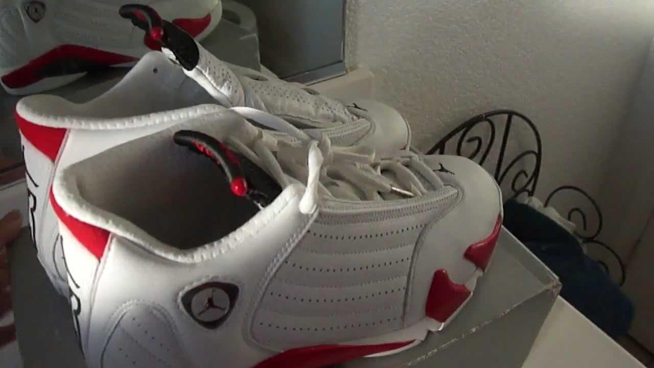 san francisco 769fb 46a2c Air Jordan 14 Original Candy Cane 1999 - YouTube