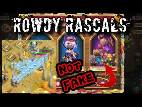 Opening ROWDY RASCALS - CRAZY OP And Very Interesting Hero Gameplay