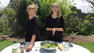 Learn English Words! Yummy Kids Guacamole Recipe with Sign Post Kids!