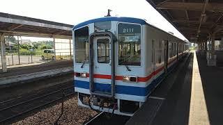 関東鉄道常総線 キハ2100形 キハ2111+2112 戸頭駅発車シーン