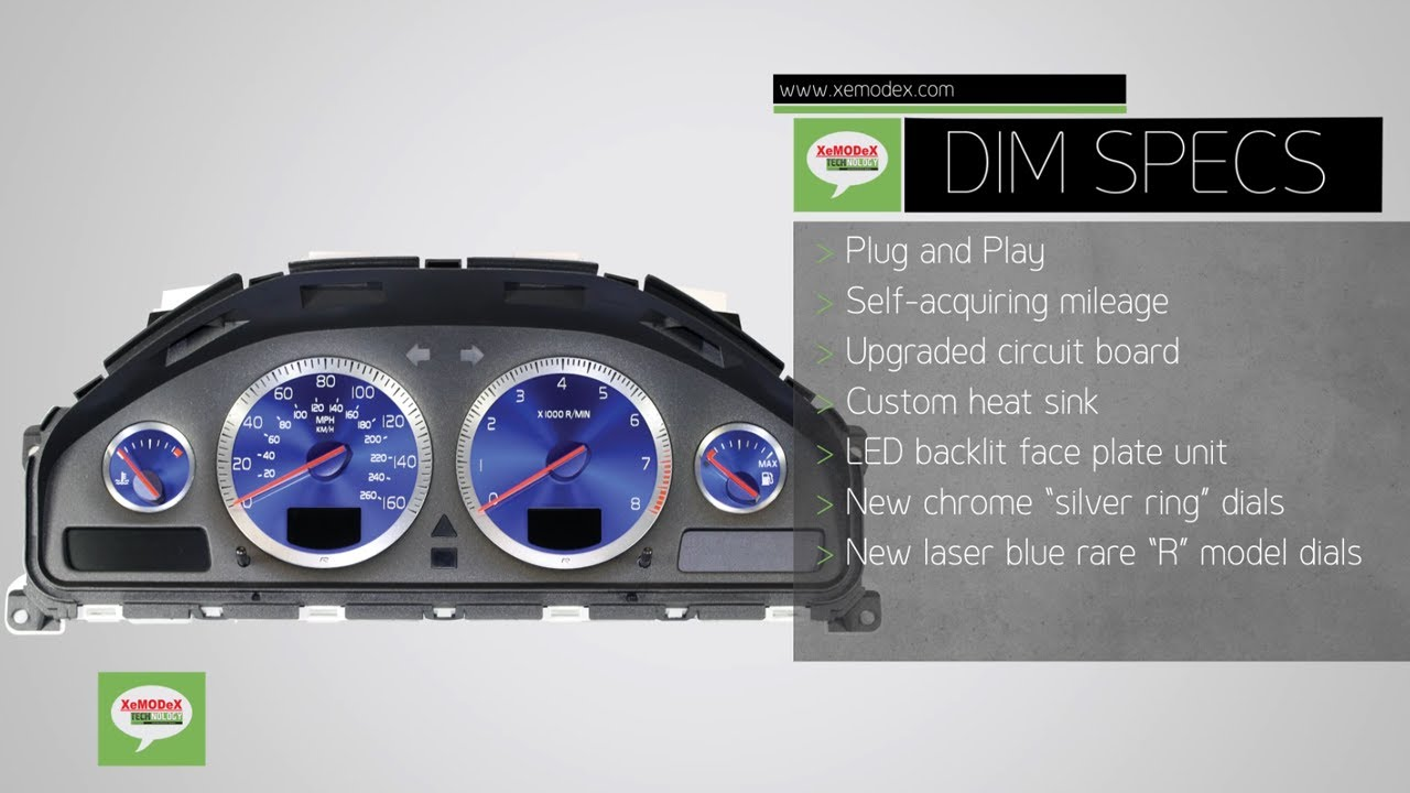XeMODeX Drivers Information Module for Volvo Instrument Cluster S60, V70, S80, XC70 (DIM) - YouTube