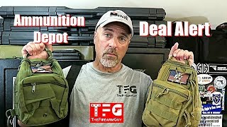 DEAL ALERT! Ammunition Depot Tactical Sling Pack w/Ammo - TheFireArmGuy