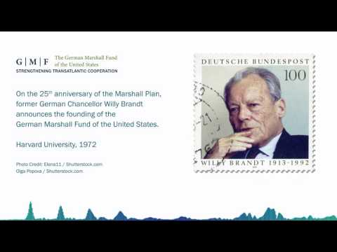 Former German Chancellor Willy Brandt announces the founding of GMF