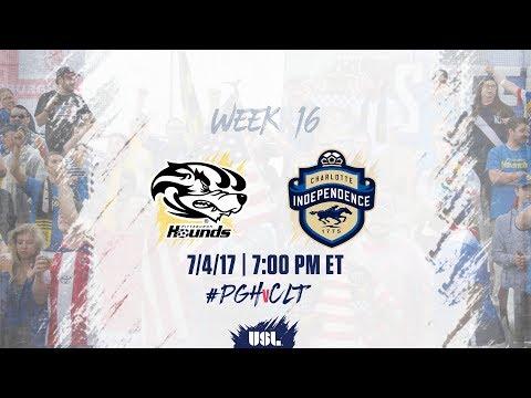 USL LIVE - Pittsburgh Riverhounds vs Charlotte Independence 7/4/17