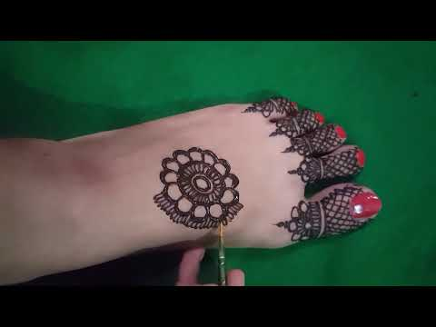 simple foot mehndi design 2018 ||easy foot mehndi