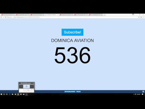 SUB 4 SUB SHOUTOUT TO DOMINICA AVIATION       GAIN SUBS