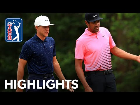 Cameron Champ & Tony Finau Round 2 highlights from Zurich Classic | 2021