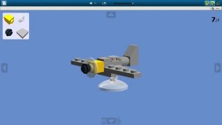 Как сделать мини самолет Messerchmitt из Lego / How to make a mini fighter Messerchmitt out of Lego