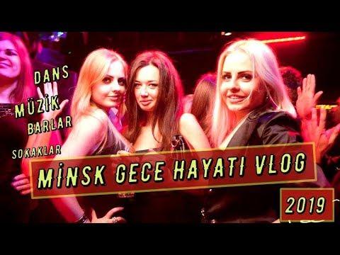Beyaz Rusya - Minsk Geceleri Vlog 2019! Belarus Gece Hayatı