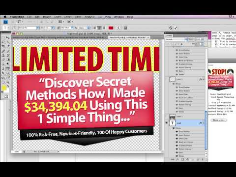 Video #20 -- How To Edit Headline Graphics With Photoshop