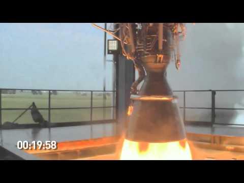 SpaceX Testing: Merlin 1D Engine Firing