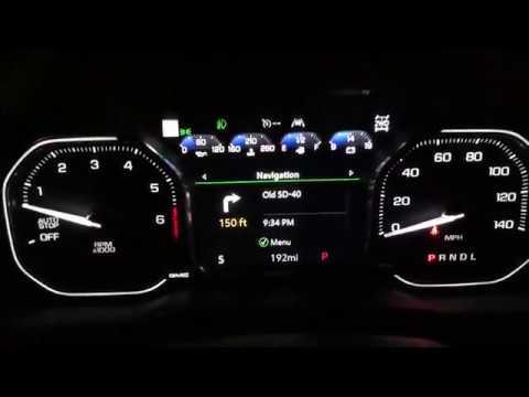 2019 Gmc Sierra Denali 1500 Technology Overview Hud Instrument Cluster Radio Mirror Youtube