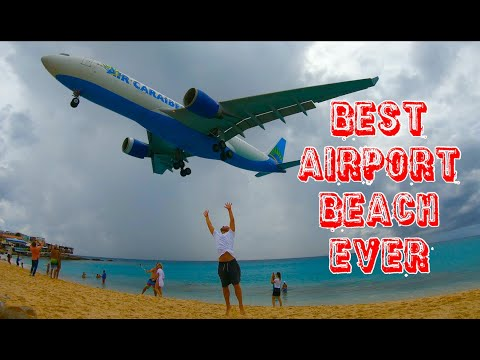 WORLD's MOST FAMOUS AIRPORT BEACH | St Maarten + Sonesto Maho Beach Resort & Hotel