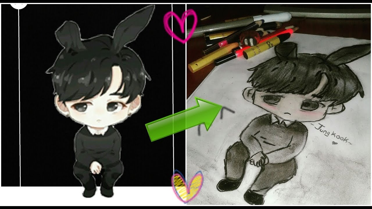 Cizim Gunlugum Resimler BTS Jungkook Cizim Speed Drawing Drawing