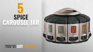Top 10 Spice Carousel Jar [2018]: KitchenArt 57010 Select-A-Spice Auto-Measure Carousel Professional