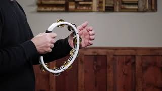 RECORDING-COMBO ABS TAMBOURINE, DUAL-ALLOY JINGLES - TMT1M-WH
