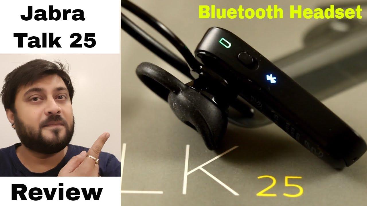 Jabra Talk 25 Mono Bluetooth Headset Review ह द Youtube