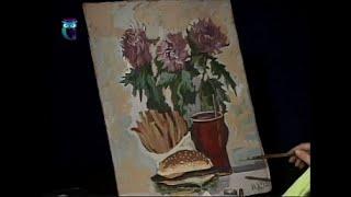 Уроки рисования (№ 91) гуашью. Рисуем натюрморты с грибами и фастфуд