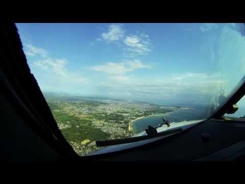 Cockpit view of Zanzibar Approach