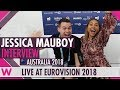 Capture de la vidéo Jessica Mauboy (Australia) Interview @ Eurovision 2018 | Wiwibloggs