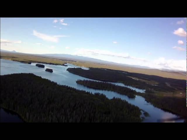 Landing Nimpo Lake, B.C.