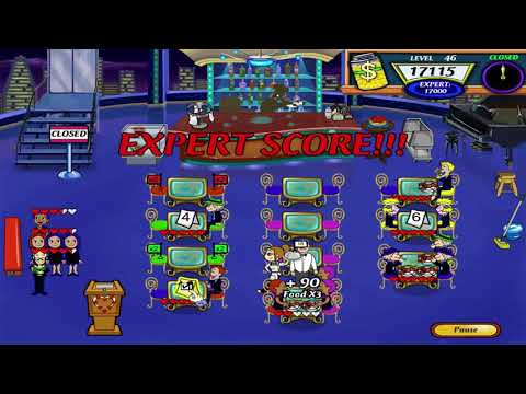 Diner Dash 2: Restaurant Rescue Walkthrough - Level #46 - Flo's Lounge - Busiest Shift