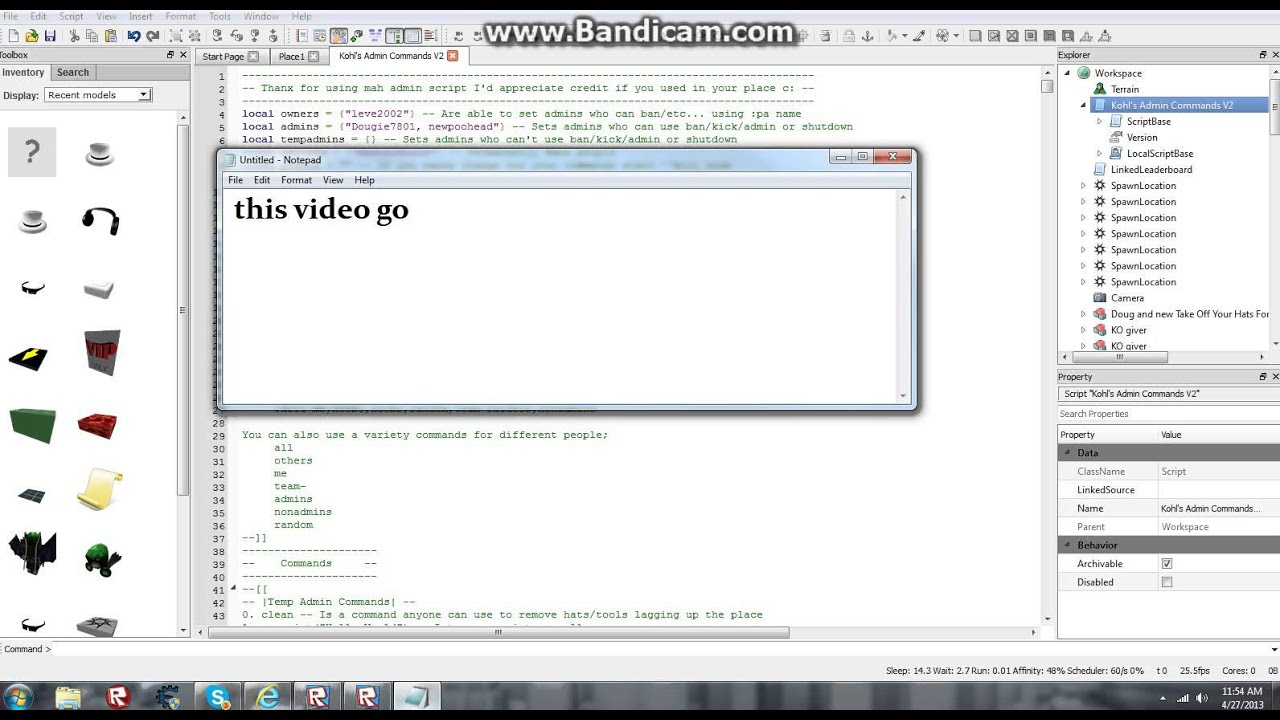 List of Synonyms and Antonyms of the Word: Roblox Commands 2013