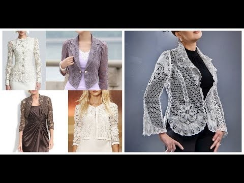[VIDEO] - Stylish Lace Jacket Blazer Coat Outfit Designs Ideas 2019-20 4