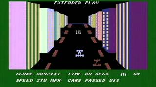 death race 16 commodore c16 plus4 game play