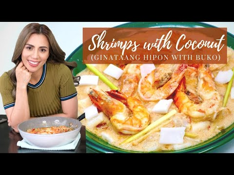Shrimps with Coconut (Ginaatang Hipon with Buko)