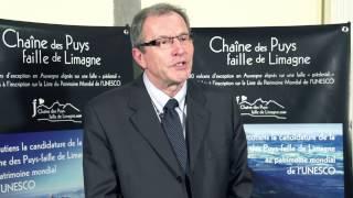 Maurice Laboue soutient la candidature de la Chaîne des Puys au patrimoine mondial de l'UNESCO