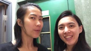 We girls in the Ridiculously tiny flat in Hong Kong