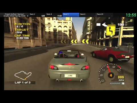 Project Gotham Racing 2 Arcade: Street Racing (Gold Medals) In 1:29:49