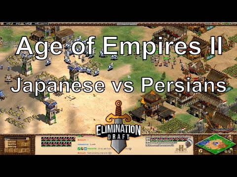 Aoe2: Japanese vs Persians (Slam vs Nicov G2) - Elimination Draft