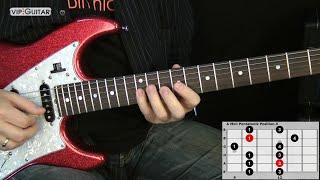 "Die 5 Pentatoniken für Gitarre: ""A Moll Pentatonik Position.3"" - Einfache Übung"