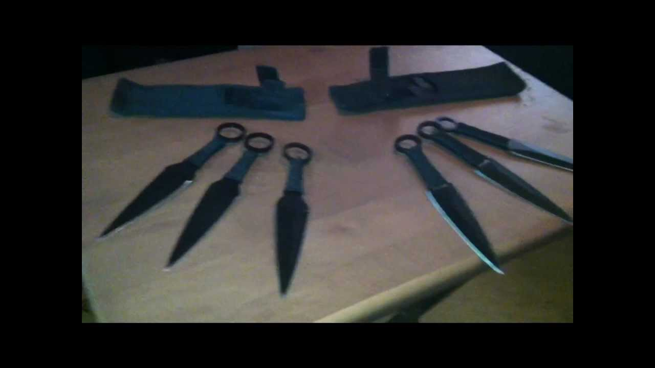 REAL KUNAI KNIVES!! Naruto and Sasuke's - YouTube